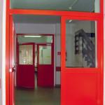 drzwi profilowe przeszklone czerwone