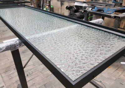 okno profile stalowe ozdobna szyba produkcja